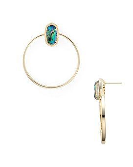 Kendra Scott - Mayra 14K Gold-Plated Mother-Of-Pearl Open Frame Drop Earrings