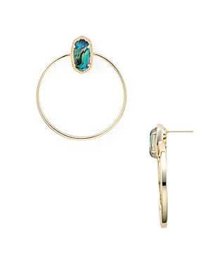 Kendra Scott Mayra 14K Gold-Plated Mother-Of-Pearl Open Frame Drop Earrings