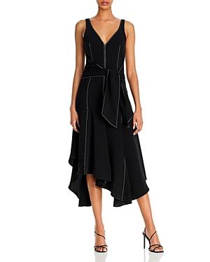 Cinq a Sept Stasia Handkerchief Hem Midi Dress-Women