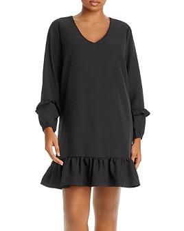 AQUA Curve - Flounce-Hem A-Line Dress - 100% Exclusive