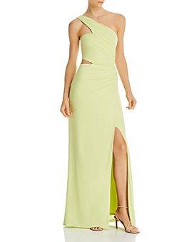 BCBGMAXAZRIA - Cutout One-Shoulder Gown