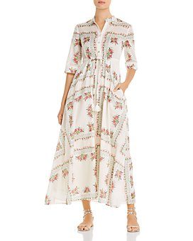 Tory Burch - Printed Maxi Shirt Dress