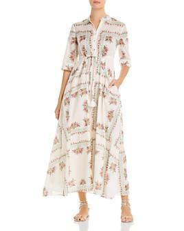 Tory Burch - Printed Maxi Shirt Dress