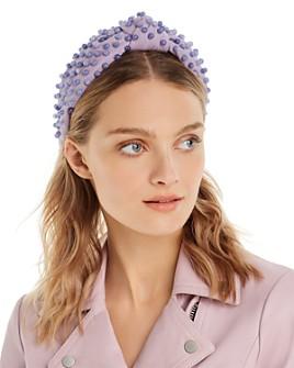 Lele Sadoughi - Woven Beaded Knotted Headband