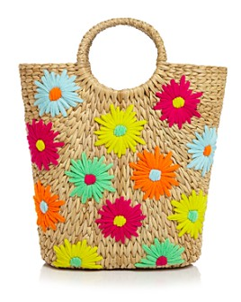 POOLSIDE - Floral Large Bucket Tote