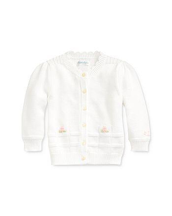 Ralph Lauren - Girls' Cotton Embroidered Cardigan - Baby