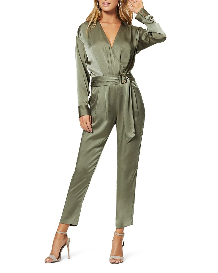 Ramy Brook - Crosby Faux-Wrap Belted Jumpsuit