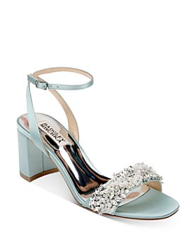 Badgley Mischka - Women's Clara Embellished Block Heel Sandals