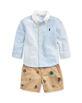 Ralph Lauren - Boys' Oxford Shirt, Icon Short & Belt Set