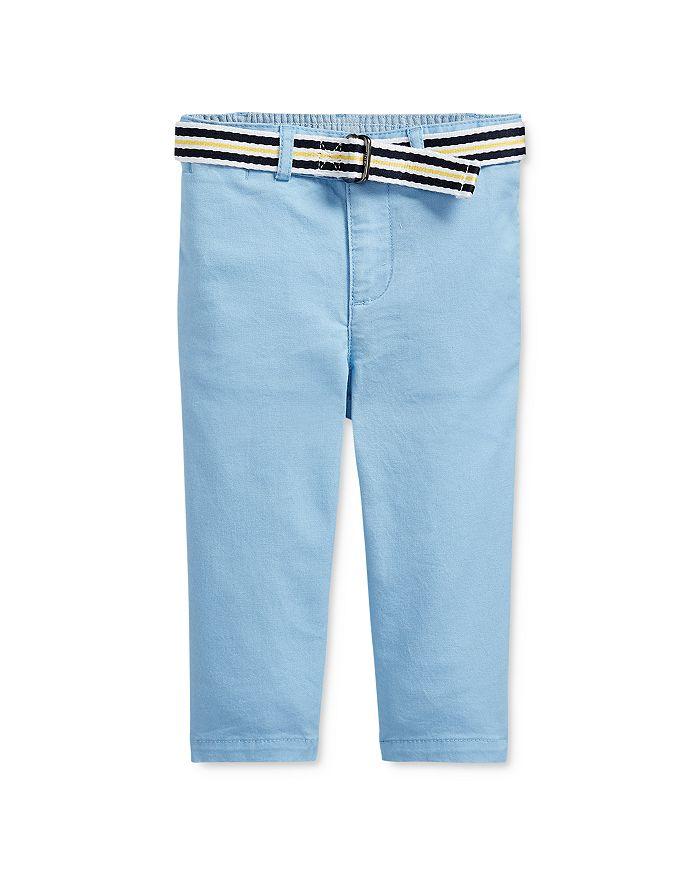 Ralph Lauren - Boys' Cotton Stretch Chino Pants & Stripe D-Ring Belt Set - Baby