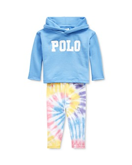 Ralph Lauren - Girls' Logo Hoodie & Tie-Dyed Leggings Set - Baby