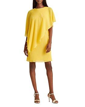 Ralph Lauren - Asymmetric-Cape Shift Dress