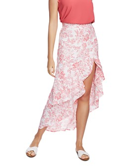 1.STATE - Porcelain Floral High/Low Maxi Skirt
