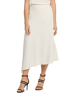 DKNY - Paneled Asymmetric Midi Skirt