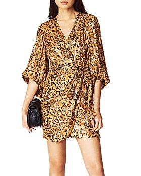 ba&sh - Ginger Blouson-Sleeve Wrap Dress