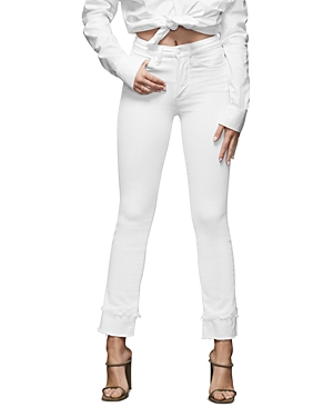 Good American Frayed-Double Hem Jeans-Women