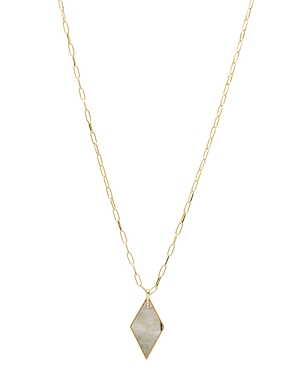 Gorjana Corina 18K Gold-Plated Pave & Gemstone Diamond-Shape Pendant Necklace, 20