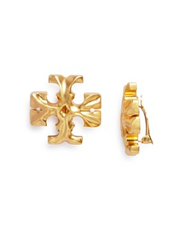 Tory Burch - Roxanne Logo Clip-On Stud Earrings
