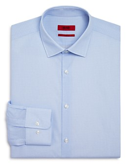 HUGO - Mabel Micro-Print Regular Fit Dress Shirt