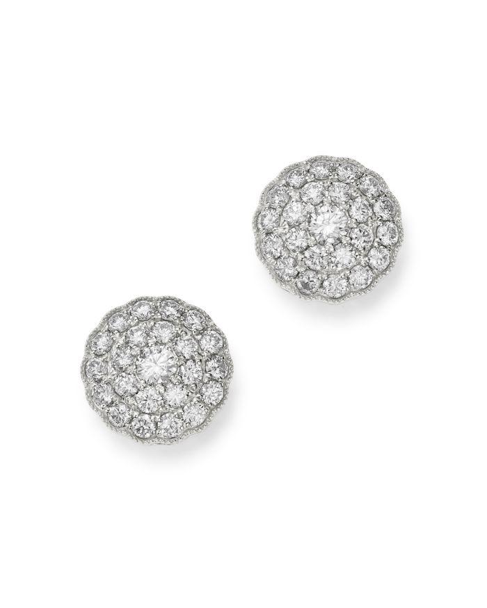 Bloomingdale's Diamond Cluster Stud Earrings in 14k White Gold, 1 ct. t.w.    Bloomingdale's