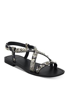 Marc Fisher LTD. - Women's Silver-Tone Studded Sandals