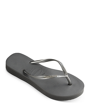 Women's Slim Flatform Thong Sandals