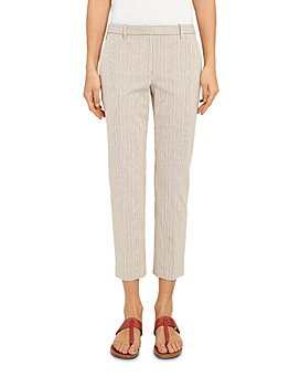 Theory - Treeca 4 Striped Cropped Pants