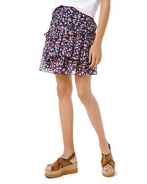 Michael Michael Kors Garden Patch Ruffled Skirt-Women