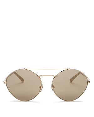 Valentino Women\\\'s Brow Bar Round Sunglasses, 61mm-Jewelry & Accessories