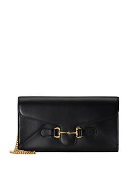 Gucci - 1955 Horsebit Leather Chain Wallet