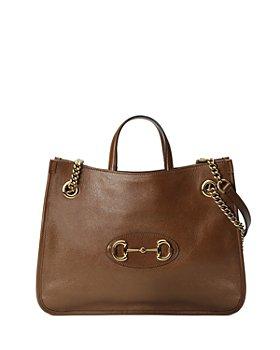 Gucci - 1955 Horsebit Medium Leather Tote Bag