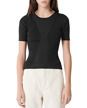 Maje Musa Slim-Cut Short-Sleeve Sweater-Women