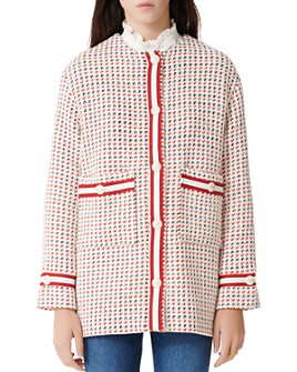 Maje - Gerona Tweed Button Coat