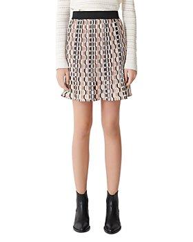 Maje - Jockilana Geometric-Print Pleated Mini Skirt