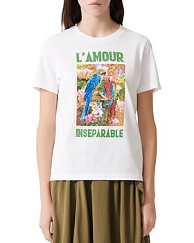 Maje - Tamour Cotton Graphic-Print Tee
