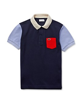 Lacoste - Boys' Cotton Colorblocked Polo - Little Kid, Big Kid