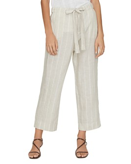 Sanctuary - The Shayne Striped Linen Wide-Leg Pants