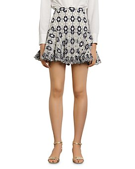 Sandro - Brone Eyelet-Lace Mini Skirt