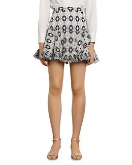 Sandro - Brone Eyelet-Lace Mini Skirt