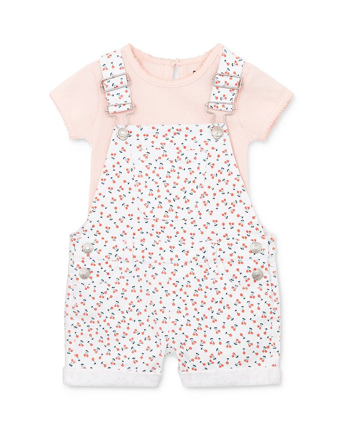 7 For All Mankind - Girls' Cotton Tee & Overalls Set - Baby
