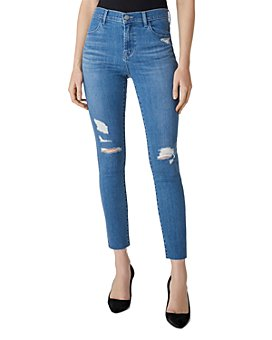 J Brand - Alana High-Rise Ripped Cropped Skinny Jeans in Argo Destruct
