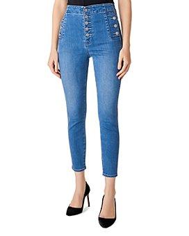 J Brand - Natasha High-Rise Cropped Skinny Jeans in Argo