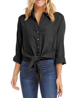 Karen Kane - Tie-Front Button-Up Shirt