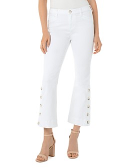 Liverpool Los Angeles - Horn-Button Kick-Flare Jeans in Bright White