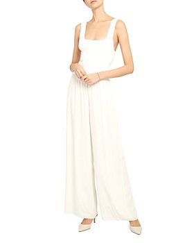 Theory - Square Neck Ribbed Viscose Crepe Jumpsuit