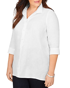 Stirling Non-Iron Linen Shaped Tunic