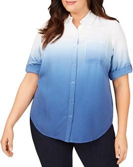 Foxcroft Plus - Terry Ombré Shirt