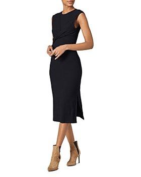 Joie - Eos Twist-Front Textured Dress