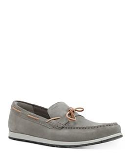 Geox - Men's Calarossa Moc Toe Suede Boat Shoes