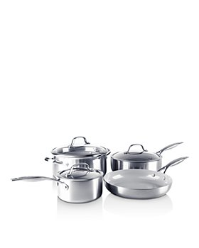 GreenPan - Venice Pro Stainless Steel Ceramic Non-Stick 7-Piece Cookware Set